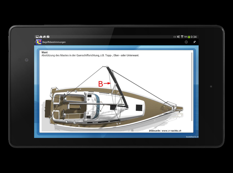 Alle Theoriefragen mit Erklärungen für die Schiffstheorieprüfung Motorboot und Segelschiff finden Sie in der App Bootstheorie.ch. Gratis Testversion!