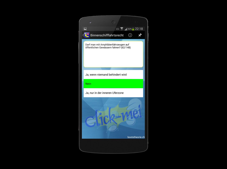 Jetzt alle aktuellen Prüfungsfragen für die Bootstheorieprüfung lernen mit der App Bootstheorie.ch. Gratis Testversion im Google Play Store.