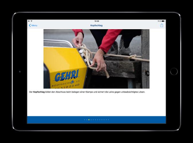 Knoten auf dem iPad lernen