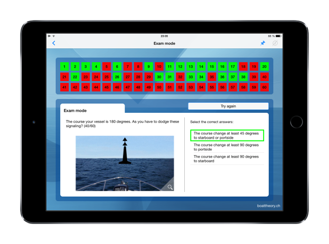 Boat Examination swiss waters  for power boat and sailing ship license