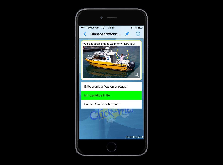 Lernen und Testen Sie alle Prüfungsfragen für die Bootsprüfung und Binnenschein Segelschiff und Motorboot mit der App Bootstheorie.ch
