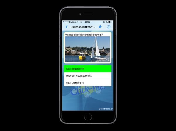 Alle aktuellen Prüfungsfragen für den Bootsführerschein Binnen auf Ihrem iPhone jederzeit und überall griffbereit zu lernen.